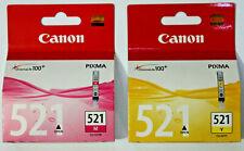 Original Canon 521 Magenta & Yellow 9ml Ink Cartridges - CLI-521M / CLI-521Y