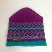 Vintage Dreimar Capello 100% Wool Hat Toque Beanie Purple Blue Knit one size
