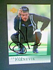 Jesper Parnevik - 2001 Upper Deck Autographed Golf card # 11 - PGA Tour