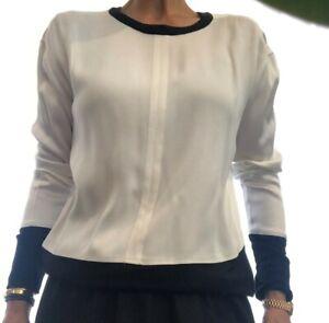 Helmut Lang white & Black Blouse Size M