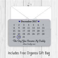 Personalised Day You Became Dad Daddy Metal Wallet Card Birthday Gift Present