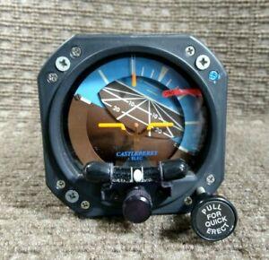 Castleberry Attitude Indicator / Horizon Gyro Model 300-14EL p/n 504-0006-954