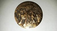 Battle of New Orleans 1815 Longines Wittnauer Bronze Medal Vintage Coin