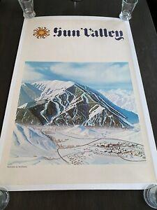 Sun Valley Ski Resort 1965 Ski Poster- Orig. Ken Shelton Rare