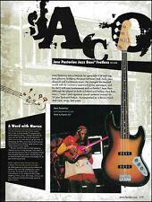 Fender Artist Jaco Pastorius Tribute Fretless Jazz Bass guitar 8 x 11 ad print
