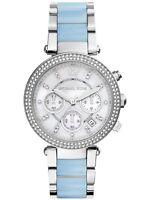 Michael Kors Women's MK6138 'Parker' Chrono Crystal Stainless Steel Watch