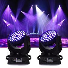 2x 360w DMX RGBW LED TESTA MOBILE luce Déménagement Head Light zoom