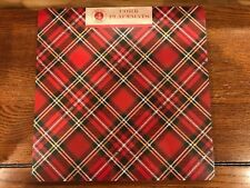 Benson Mills Square Cork Placemats Set Of 4 Christmas Holiday Plaid NEW