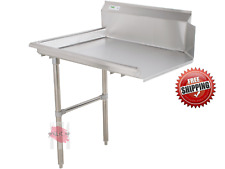 Commercial Stainless Steel Left Side 2 Dishwashing Clean 24 Dish Washer Table