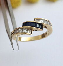 ANELLO IN ORO 18KT DIAMANTI E ZAFFIRI -18KT SOLID GOLD DIAMONDS & SAPPHIRE RING