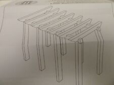 More details for dolls house miniature 1:12th scale garden accessory bare wood pergola kit