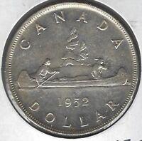 1952 Canada Dollar Coin AU-55