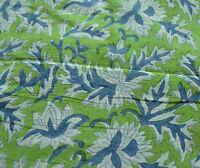 Hand Block Print 3 Yard Indian Pure Cotton Fabric Sanganeri Loose Running Craft