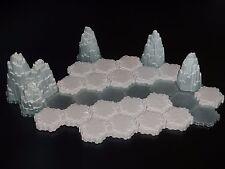 Heroscape Terrain- Mini Tundra Set A - Glaciers, Snow, Ice- Expanded Battlefield