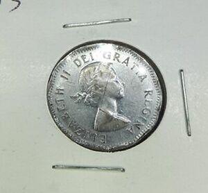 1953 near Maple Leaf - Canadian 5 Cent VG