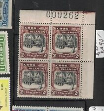 Cook Islands SG 128 Sheet Number Block of Four MNH (10dvc)
