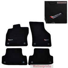 07-16 4-teilige schwarze Gummifußmatte für AUDI A5 Cabrio Coupe Bj