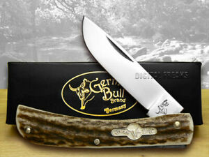 German Bull Deer Stag Dirt Buster Jr. Pocket Knives 107 Knife