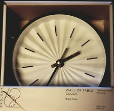 """6"""" Round Wall Clock White/Brass - Project 62 NIB   Clean Look"""