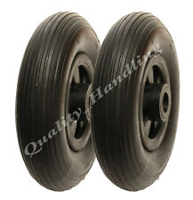 "8 ""Puncture PROOF WHEELS 200 x 50mm assistenza gratuita, PIATTO libero, CARRELLO, Hand TRUCK 2 PC"