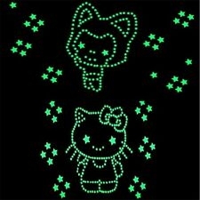 50pcs Glow In Dark Luminous Fluorescent Wall Stickers For Home Decoration