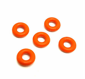Body Jewelry Orange O Ring Replacement Tunnels Tapers 5 Sizes Rubber Bands UK