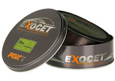 Fox Exocet Mono Line Mainline Trans Khaki 1000m Distance Casting *All Types*