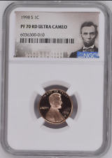 :1998-S 1C LINCOLN CENT NGC PF 70 RD DCAM RED ULTRA CAMEO TOP POP HIGHEST GRADES
