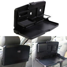 Black Car Rear Seat Folding Tray Storage Box Food Drink Table Desk Holder 1pcs