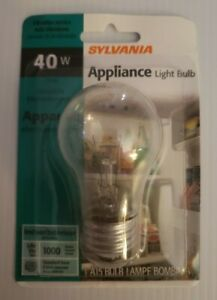 Sylvania Lighting 40W Clear Appliance light Bulb 40A15/CL/APPL/BL FREE SHIPPING