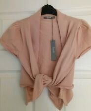 LADIES SOUTH CARDIGAN 14 BLUSH PINK BALLET STYLE WRAP TIE FRONT BEAUTIFUL BNWT