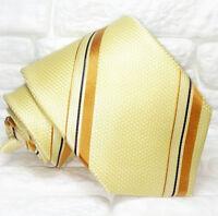 Krawatte seide Gestreifte gelb-beige und braune TRE Italien hochzeit / business