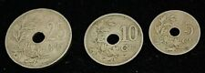 1906-1922 Lot of 3 Belgium Coins - Silver - Very Good Condition