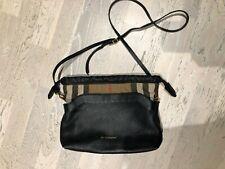 Burberry Crossbody Black Bag Little Crush Check Derby Leather