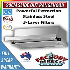90 cm Slide Out/ Pull Out RangeHood Stainless Steel Telescopic 2 Year Warranty!