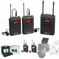 BOYA BY-WM8 Camera UHF LCD Wireless Lavalier Microphone Transmitter + receiver