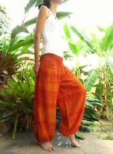 Orange Baggy Trousers Aladdin Elephant Harem Yoga Pants Hippie Travel Ibiza Boho