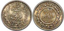 TUNISIE 50 CENTIMES 1891 KM#223 UNC!!!