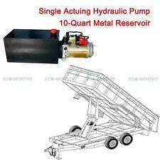 12V 10 Quart Single Acting Hydraulic Power Pump for Unloading Crane, Trailer