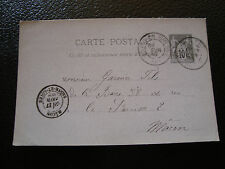 FRANCE carte entier 1889 (cy14) french