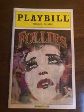 Follies January 2012 Broadway Playbill