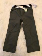 Boys new w/tags Gray Navy Elastic Wasted Daily Pants Sz 3T by Carter's