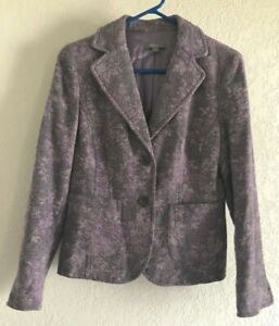 ANN TAYLOR WOMEN'S SZ SP TAPESTRY JACKET LAVENDER LINED 2-BUTTON