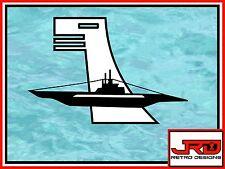6th Flotilla Emblem Vinyl Sticker in Black and White