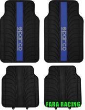 "SPC1913AZ Cora - Sparco – Set 4 Tappeti per Auto in PVC ""Blue Line"" Nero/Blu"