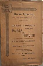 """DIVAN JAPONAIS """"PARIS EN REVUE"""""""