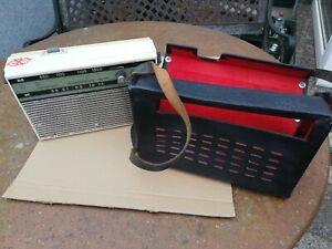 DDR Transistor Kofferradio Stern Party II RFT 70iger Jahre + Lederhülle