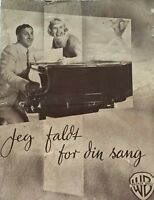 I'll See You In My Dreams Doris Day Danny Thomas Vtg 1951 Danish Movie Program
