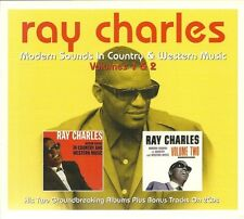 RAY CHARLES VOLUMES 1 & 2 MODERN SOUNDS IN COUNTRY & WESTERN MUSIC 2 CD BOX SET