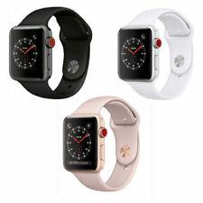 Reloj de Apple serie 3 38mm 42mm Gps + Celular 4G LTE-Gris Espacio Oro Plata